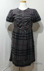 【中古】バーバリーブリットBURBERRYBRITレディースファッションワンピース半袖チェック柄サイズ40