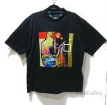 【未使用】【展示品】プラダPRADAメンズ紳士Tシャツトップスカットソー半袖柄ブラック黒MサイズMBLACK【中古】