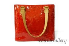 【中古】ルイヴィトンLOUISVUITTONヴィトン鞄バッグトートバッグヴェル二モノグラムレッド赤ルージュヒューストンM91092送料無料