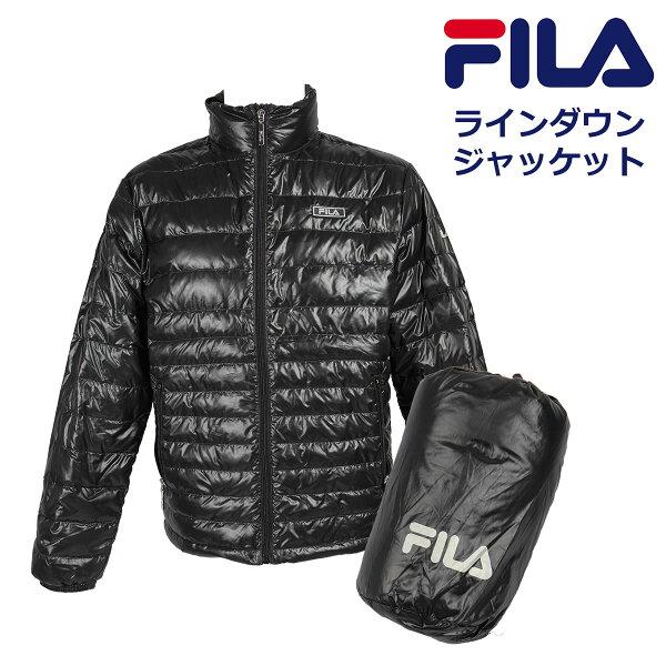 FILAフィラ軽くて薄い防寒ライトダウンジャケットメンズ冬アウターFH7380 ssrund