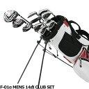 ワールドイーグル F-01α メンズ14点ゴルフクラブセットフレックスR /S バック:ホワイトレッ...