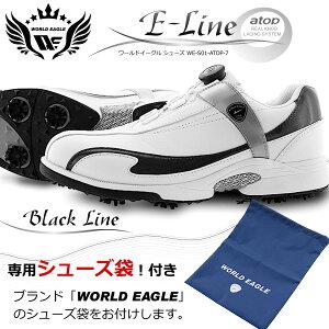 軽量、柔らか設計なので歩きやすく疲れにくい男性用ゴルフシューズ。ワイドな3E タイプ。スパイクは8個装着。多少の雨や水の侵入を防ぐ防水性能。28cmの大きいサイズの靴もご用意。【ssrund】