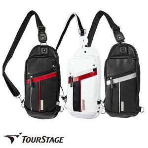ゴルフ有名ブランド ツアーステージ メンズ用ボディバック(ワンショルダー、ショルダーバッグ)スポーティーでシンプルなデザイン。大変丈夫なレザー調の高級感ある合皮製【ssglbg】
