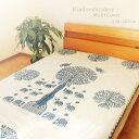 マルチカバー 刺繍 150×225cm インド綿100% パッチワーク...
