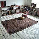 インド綿100% 裂き織り ラグ ニューチンディー 130×190cm...