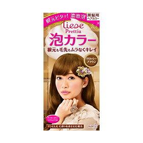 花王リーゼ プリティア泡カラー グロッシーブラウン 24個セット Kao Liese 4901301266224 「もっちり濃密泡」が根元に密着し、根元も毛先もムラなくキレイに染まる泡のヘアカラー。指どおりなめらか、しっとり質感の染め上がり。