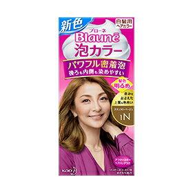 花王 ブローネ泡カラー 1N ナチュラリーベージュ 108ml 24個セット Kao Blaune hair color 4901301329318 白髪を深く染めて、美しい髪色に。