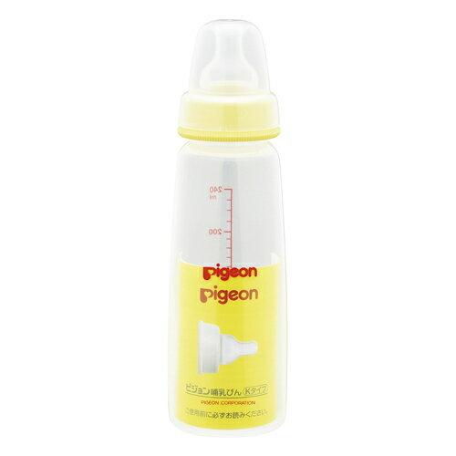 ピジョン Kタイプ 哺乳びん(プラスチック製・シリコーンゴム製乳首付) 240ml x60個 Pigeon Nursing bottle 4902508003094:イーワールドマーケット雑貨&食材