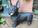 犬の置物 フレンチブルドッグ 黒 おまけ付 いぬ イヌ 動物 2630...