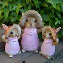 うさぎの置物 きのこウサギ親子3羽セット 6295・98H ピンク ラビット 兎 オーナメント ウサギ ラパンオーナメント きのこ オブジェ ガーデン ガーデニング マスコット 雑貨 ディスプレィ