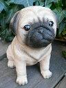 犬の置物 パグ いぬ イヌ 動物 N12235 オーナメント ガーデン...