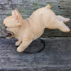 犬の置物フレンチブルドッグ着地184QYいぬイヌ動物オーナメントガーデンインテリア雑貨置物庭ガーデンマスコット雑貨小物ディスプレィ陶器リアル