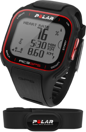 Polar RC3 GPS Heart Rate Monitor and Sports Watch - Black [Sports]