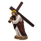 カルバリ(ゴルゴダの丘)に十字架を運ぶイエス・キリスト彫像