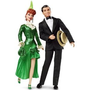 I Love Lucy Lucy & Cuban Pete Ricky Barbie Pink Label Gift Set