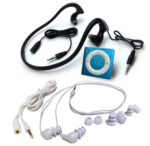 水泳用iPod Shuffle 防水仕様 Underwater Audio Waterproof iPod Mega Bundle  (Blue)画像