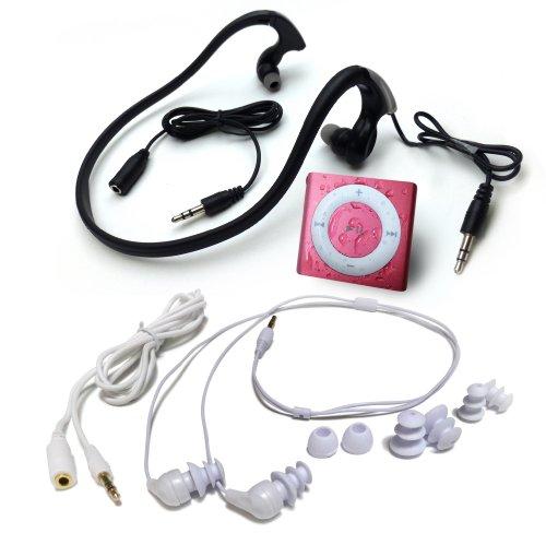 水泳用iPod Shuffle 防水仕様 Underwater Audio Waterproof iPod Mega Bundle  (Pink)画像