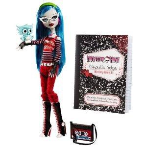 モンスターハイ Monster High Ghoulia Yelps Doll with Pet Owl Sir Hoots A Lot:ワールドセレクトショップ