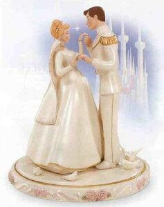 """ディズニーフィギュア レノックス シンデレラ 王子 """"Wedding Day Cake Topper""""Lenox Disney 614..."""