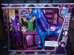 Monster High (モンスターハイ) Headless Headmistress Bloodgood & Her Horse Nightmare ドール 人形 フ画像
