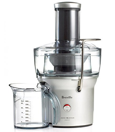 Breville Compact Juicer Juice Fountain - BJE200XL/ Internal Pulp Collector Allows You To画像