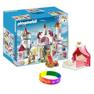 PLAYMOBIL (プレイモービル) 5142 Princess Fantasy Magic Castle with Canopy Bed and Rocking Chair wi