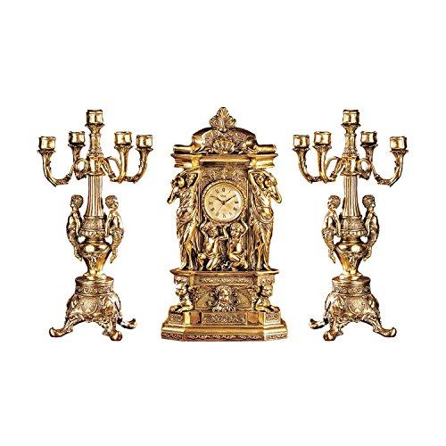 Design Toscano Inc Chateau Chambord Clock and Candelabra Ensemble:ワールドセレクトショップ