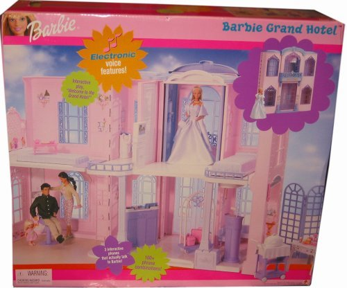 バービー Barbie GRAND HOTEL Playset プレイセット w INTERACTIVE PHONE 100+ Phrases, 5 Deluxe Rooms