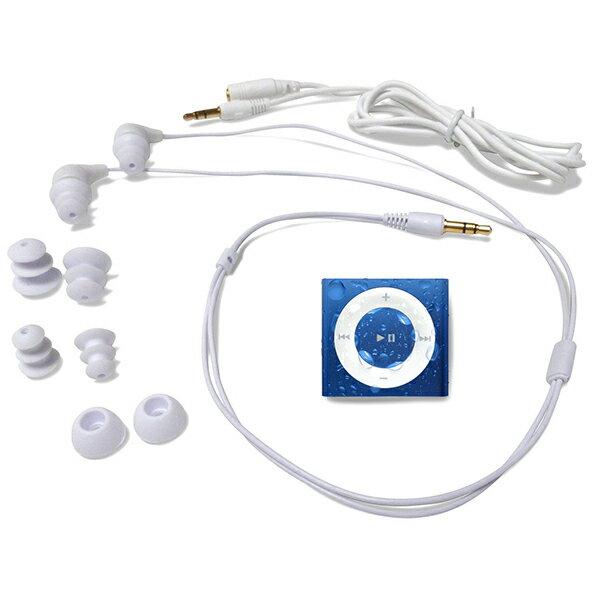 水泳用iPod Shuffle 防水仕様 Underwater Audio Waterproof iPod Mega Bundle  (Royal Blue)画像