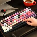 【送料無料】ワイヤレスキーボード ブルートゥーキーボードス タイプライターキーボード オフィスキーボード コンパクトキーボード 軽量 Bluetoothキーボード タイプライター おしゃれ 新発売 おすすめ (カラフル)