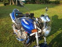 ホーネット250汎用ウインドスクリーンミニカウル風防バイク用クリアスモーク