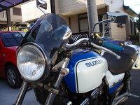 GSX400インパルス汎用ウインドスクリーンミニカウル風防バイク用クリアスモーク
