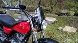 バンバン200 VANVAN200 汎用 ウインドスクリーン ミニカウル 風防 バイク用 クリア スモーク