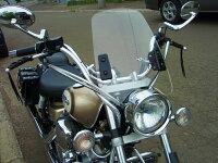 汎用スクリーンシールド風防バイク用ws−02クリア透明