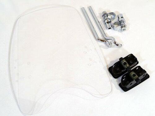 WS-02W 汎用 スクリーン シールド 風防 バイク用 クリア スモーク
