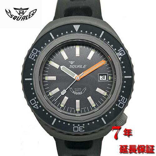 腕時計, メンズ腕時計 Squale2002-ATMOS BLACK TATTICO