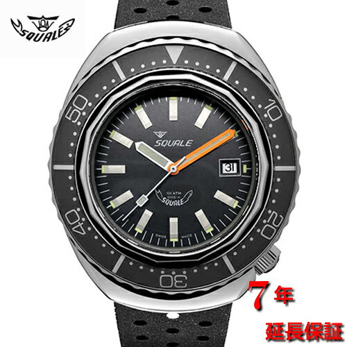 腕時計, メンズ腕時計 Squale2002-ATMOS Black