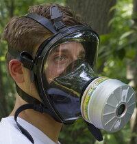 NBC対応防毒ガスマスクサリン対応フルーフェイスタイプフェルター付き(非工業用)