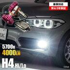 【送料無料】 オルティア EL1・2・3 ベルノ店 LED ヘッドライト H4 Hi/Lo 5700K(4000Lm/6400カンデラ以上) ホワイト [GR0001] LYZER製品 GRIT グリット