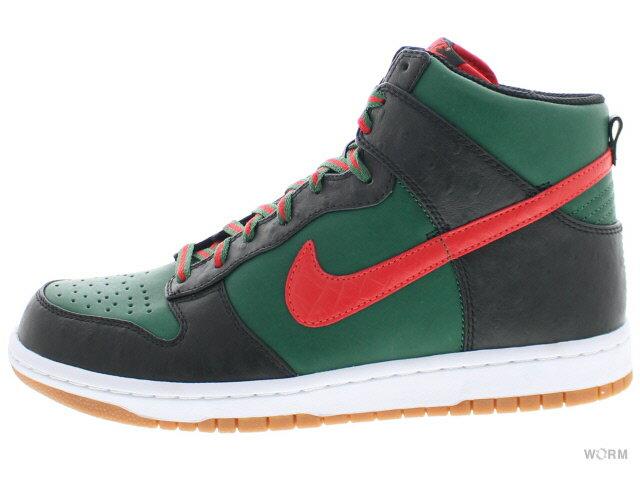 メンズ靴, スニーカー NIKE DUNK HI SUPREME SPARK LE 375378-361 team greenchallenge red-black
