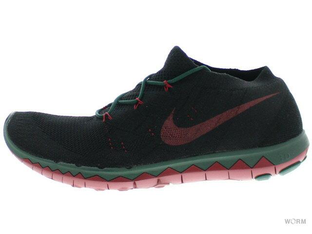 メンズ靴, スニーカー NIKE FREE 3.0 FLYKNIT GYAKUSOU 810821-006 blackpro green-team red