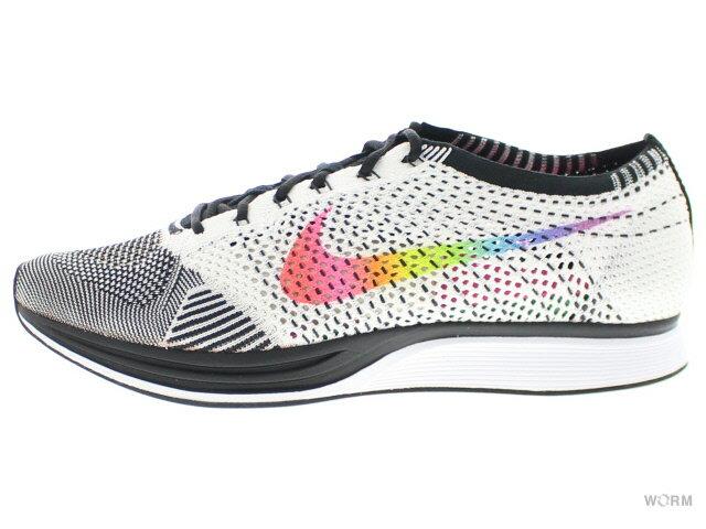 メンズ靴, スニーカー NIKE FLYKNIT RACER BETRUE 902366-100 whitemulti-color-black