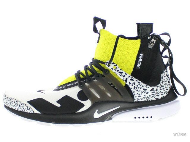 メンズ靴, スニーカー NIKE AIR PRESTO MID ACRONYM ah7832-100 whiteblack-dynamic yellow