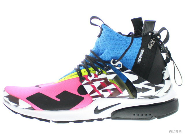 メンズ靴, スニーカー NIKE AIR PRESTO MID ACRONYM ah7832-600 racerpinkblack-photo blue