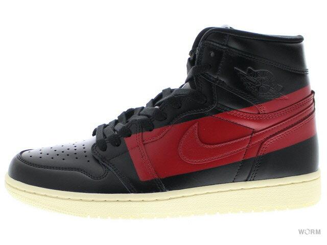 メンズ靴, スニーカー AIR JORDAN 1 HIGH OG DEFIANT COUTURE bq6682-006 blackgym red-muslin