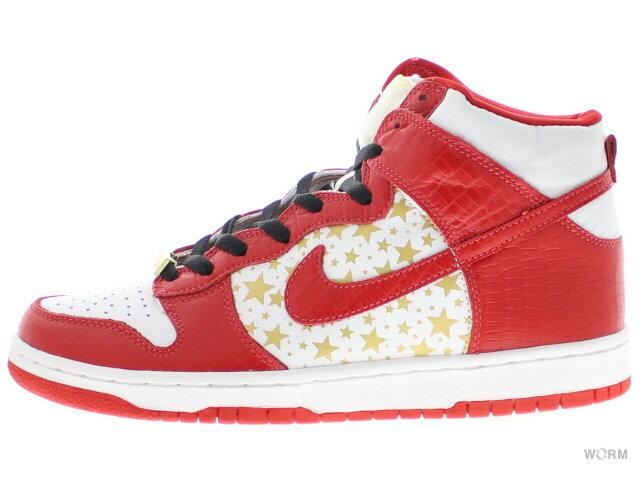 メンズ靴, スニーカー NIKE SB DUNK HIGH PRO SB SUPREME 307385-161 whitevarsity red