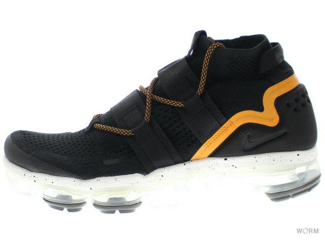 メンズ靴, スニーカー NIKE AIR VAPORMAX FK UTILITY ah6834-008 blackblack-orange peel