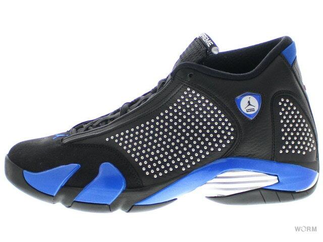 メンズ靴, スニーカー AIR JORDAN 14 RETRO S Supreme bv7630-004 blackvarsity royal-chrome