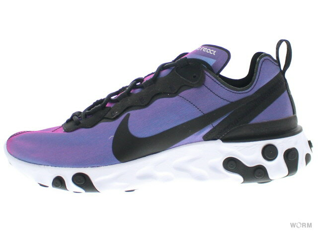メンズ靴, スニーカー W NIKE REACT ELEMENT 55 PRM cd6964-001 blackblack-laser fuchsia