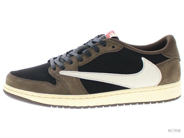 メンズ靴, スニーカー AIR JORDAN 1 LOW OG SP-T TRAVIS SCOTT cq4277-001 blacksail-dark mocha